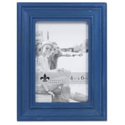 "Lawrence Frames 4""W x 6""H Durham Weathered Navy Blue Wood Picture Frame (746646)"