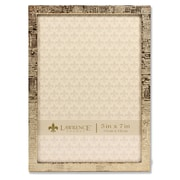 """Lawrence Frames 5""""W x 7""""H Gold Metal Picture Frame with Linen Pattern (712357)"""