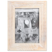 "Lawrence Frames 5""W x 7""H Sarasota Whitewash and Weathered Natural Wood Picture Frame (746057)"