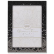 """Lawrence Frames 5""""W x 7""""H Luxx Faceted Black Metal Picture Frame (703457)"""