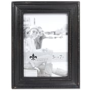 "Lawrence Frames 5""W x 7""H Durham Weathered Black Wood Picture Frame (746557)"