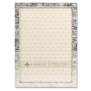 """Lawrence Frames 5""""W x 7""""H Silver Metal Picture Frame with Linen Pattern (712457)"""
