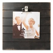 """Lawrence Frames 9""""W x 9""""H Weathered Black Woodlands Clip Picture Frame - Holds Up to 5""""W x 7""""H Photo (741099)"""
