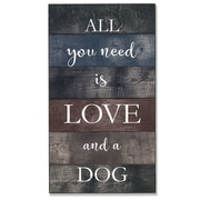 "Lawrence Frames 8""W x 15""H Wall Panel Sign - Love and A Dog (645215)"