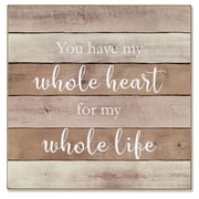"""Lawrence Frames 11""""W x 11""""H Wall Panel Sign - Whole Heart (645111)"""