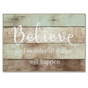 "Lawrence Frames 7""W x 10""H Wall Panel Sign - Believe (645070)"