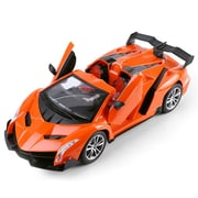 Orange Remote Control Cruz Sport Car Convertibles Fast Furious Turbo Racer Scale 1:15 (TOYCAR112)