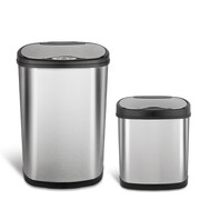 Nine Stars Motion Sensor Combo Trash Can, 13.2 Gallon / 3.1 Gallon, Stainless Steel (CB-50-13/12-13)