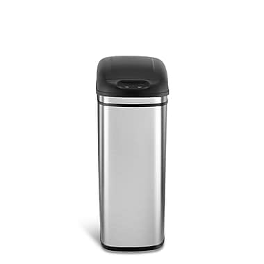 Nine Stars Motion Sensor Trash Can, 11 Gallon, Stainless Steel (DZT-42-1)