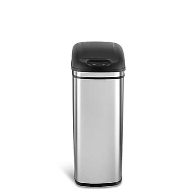 Nine Stars Stainless Steel Motion Sensor Trash Can, 11 Gallon (DZT-42-1)