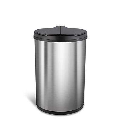 Nine Stars Stainless Steel Motion Sensor Trash Can, 12.4 Gallon (DZT-47-20)