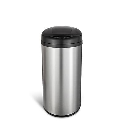 Nine Stars Stainless Steel Motion Sensor Trash Can, 12.9 Gallon (DZT-49-8)