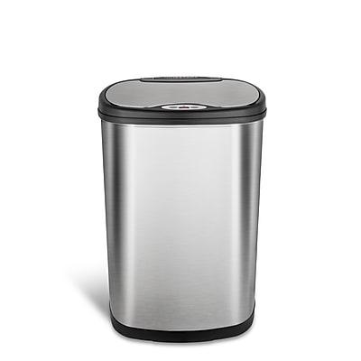Nine Stars Stainless Steel Motion Sensor Trash Can, 13.2 Gallon (DZT-50-13)
