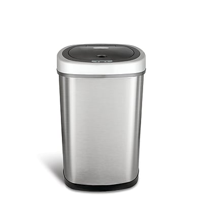 Nine Stars Stainless Steel Motion Sensor Trash Can, 13.2 Gallon (DZT-50-9)