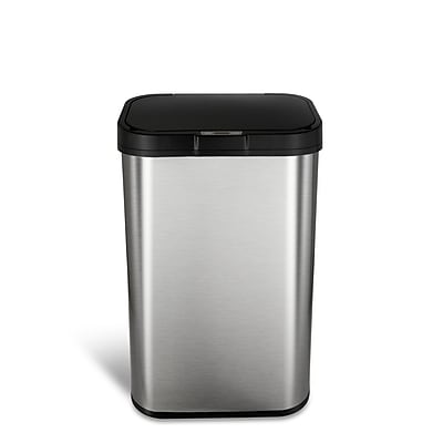 Nine Stars Stainless Steel Motion Sensor Trash Can, 15.8 Gallon (DZT-60-10)