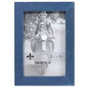 "Lawrence Frames 4""W x 6""H Charlotte Weathered Navy Blue Wood Picture Frame (745746)"