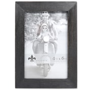 "Lawrence Frames 4""W x 6""H Charlotte Weathered Black Wood Picture Frame (745546)"