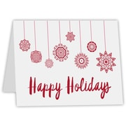 LUX A7 Folded Card (5 1/8 x 7) 50/Pack, 80 lb. Bright White with a printed Happy Holidays Design (A7FW-80WHH-50)