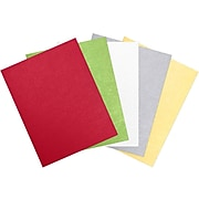 LUX 8 1/2 x 11 Cardstock 250/Sheets, Holiday Multicolor Metallic Pack (CHMETALLICPACK5)