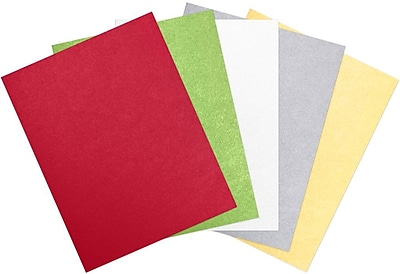 LUX 8 1/2 x 11 Cardstock 100/Sheets, Holiday Multicolor Metallic Pack (CHMETALLICPACK2)