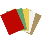 LUX 8 1/2 x 11 Cardstock 100/Sheets, Holiday Multicolor Pack (211CHCOLORPACK2)