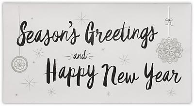 LUX Photo Greeting Envelopes (4 3/8 x 8 1/4) 50/Pack, 70 lb. Bright White w/Holiday Greeting (PHGC1-70WSG-50)