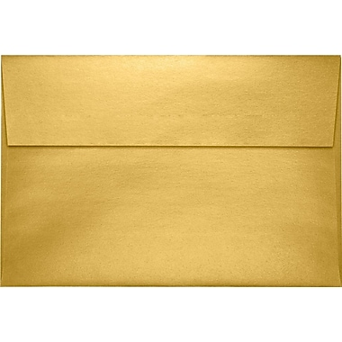 LUX A10 Invitation Envelopes (6 x 9 1/2) 500/Pack, Gold Metallic (4590-07-500)