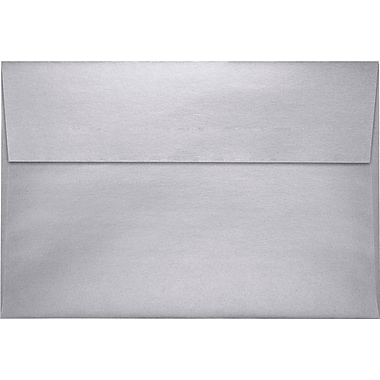 LUX A10 Invitation Envelopes (6 x 9 1/2) 50/Pack, Silver Metallic (4590-06-50)