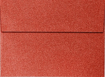 LUX A7 Invitation Envelopes (5 1/4 x 7 1/4) 1000/Pack, Holiday Red Sparkle (5370-MS08-1M)