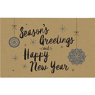 LUX #1 Coin Envelopes (2-1/4 x 3-1/2) 500/Pack, Grocery Bag w/Seasons Greetings and Happy New Year Greeting (1CO-GBSG-500)