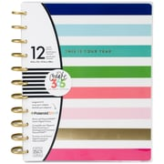 """Me & My Big Ideas Multi Bright Stripe w/This Is Your Year Create 365 12-Month Undated Planner, 9.25"""" X 11.5"""" (PLNB-08)"""