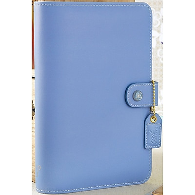 Webster's Pages Periwinkle Color Crush Faux Leather Personal Planner Binder, 5.25