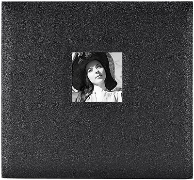 MBI Glitter Black Diamond Expressions Post Bound Album w/Window, 12