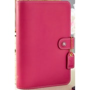 "Webster's Pages Fuchsia Color Crush Faux Leather Personal Planner Binder, 5.25"" x 8"" (WPCP001-F)"