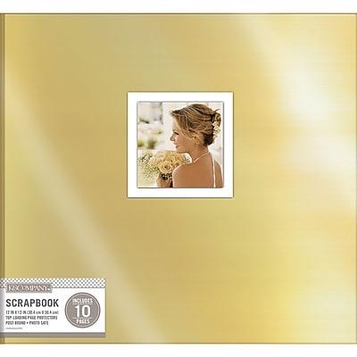 K&Company Gold Foil Post Bound Window Album, 12
