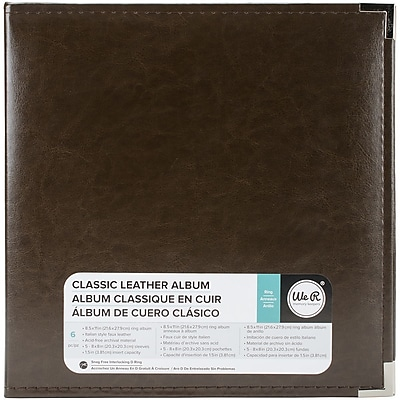 We R Memory Keepers Dark Chocolate Classic Leather D-Ring Album, 8.5