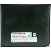 "We R Memory Keepers Forest Green We R Classic Leather D-Ring Album, 12""X12"" (WRRING12-60915)"