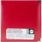 "We R Memory Keepers Real Red Classic Leather D-Ring Album, 8.5""X11"" (WRRING8-60131)"