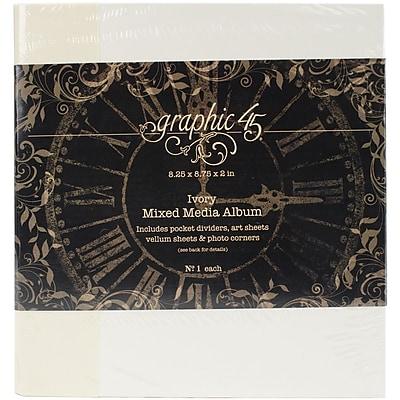 Graphic 45 Ivory Staples Mixed Media Album, 8
