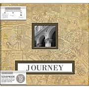 "K&Company Vintage Map Frame-A-Name Post Bound Album, 12"" x 12"" (30706422)"