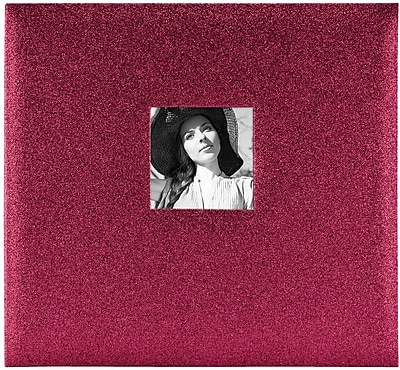MBI Glitter Red Expressions Post Bound Album w/Window, 12