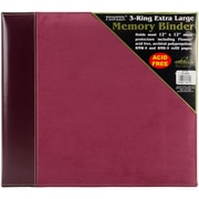 "Pioneer Burgundy Suede 3-Ring Sewn Cover Album, 12"" x 12"" (PTM12-BRS)"