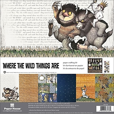 Paper House Where The Wild Things Are Paper Crafting Kit, 12