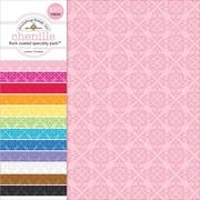 "Doodlebug Flocked Chenille Specialty Cardstock Value Pack, 12"" x 12"", 12/Pkg (SPVP-3844)"