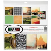 "Reminisce Italia, 8 Papers & 1 Stickers Sheet Collection Kit, 12"" x 12"" (ITA200)"