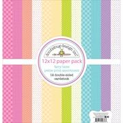 "Doodlebug Fairy Tales Petite Prints Double-Sided Cardstock, 12"" x 12"", 12/Pk (FAIR5676)"