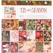 """American Crafts Photo Real 'Tis The Season Single-Sided Paper Pad, 12"""" x 12"""", 36/Pkg (341268)"""