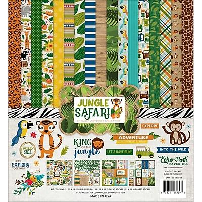 Echo Park Paper Jungle Safari Collection Kit, 12