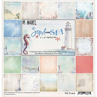49 and Market 9 Designs/1 Each Sand & Sea Collection Pack, 12