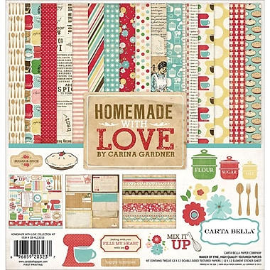 Echo Park Paper Homemade With Love Carta Bella Collection Kit, 12